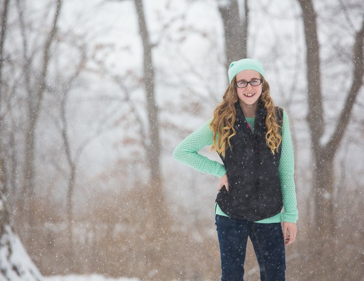 Snowy Teen Portraits