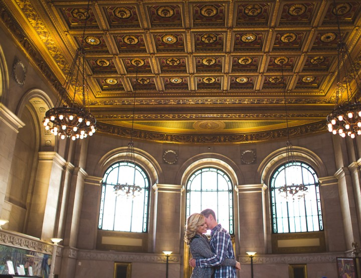 St. Louis Engagement Photography | Central Library | City Garden