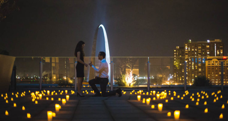 St. Louis Proposal Photography   Cinder House