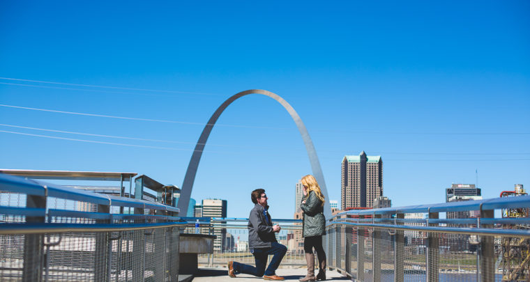 St. Louis Proposal Photography | Malcolm W. Martin Memorial Park