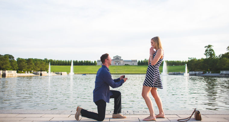 St. Louis Proposal Photography | Forest Park | Grand Basin