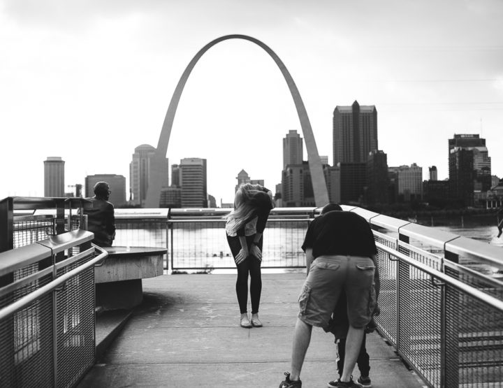 St. Louis Proposal Photography | Malcolm Memorial Park | Arch
