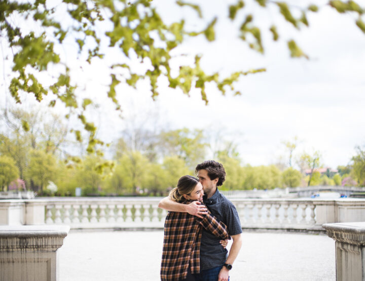 St. Louis Proposal Photography | Forest Park Grand Basin